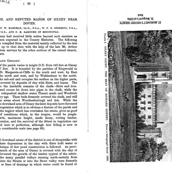 'The Parish and reputed Manor of Oxney near Dover' from Archaelogia Cantiana vol 59 1946