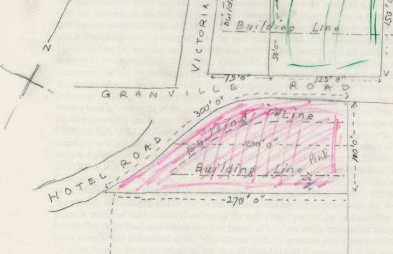 Sale of Corner Cottage, Granville Road. 1913