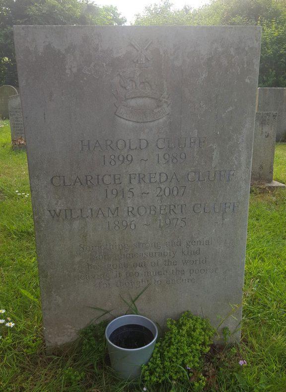 Gravestone of CLUFF William Robert 1975; CLUFF Clarice Freda 2007; CLUFF Harold 1989 | Dawn Sedgwick
