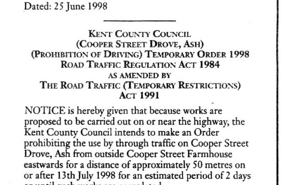 Building the Granville Flats: Closure of Hotel Road. July 1998