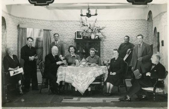 Scene from St Margaret's Players production 'Hay Fever'. 1954