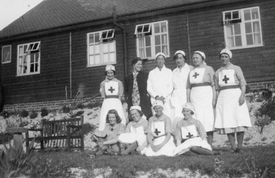 A group of Red Cross nurses during the war