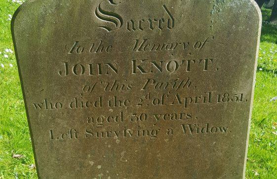 Gravestone of KNOTT John 1851