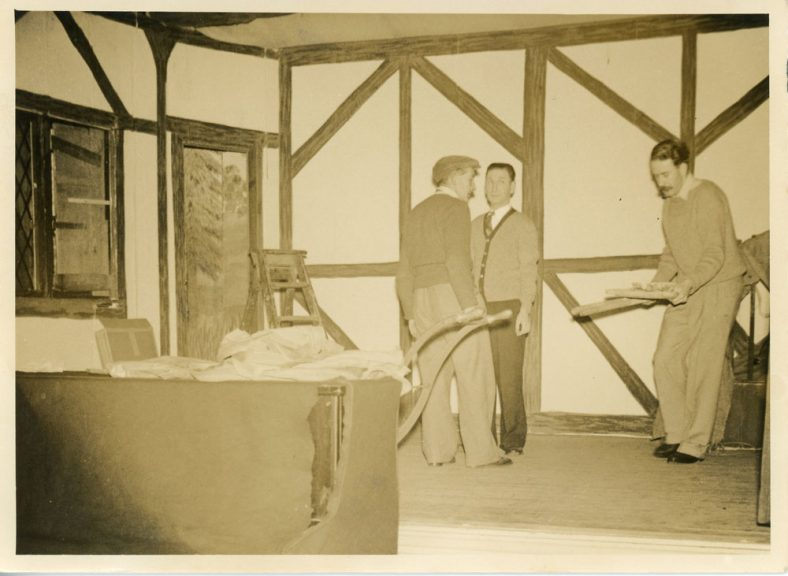 Set construction by the St Margaret's Players for an unidentified production