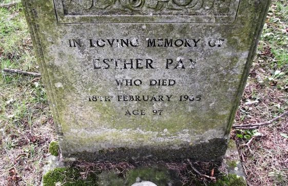 Gravestone of PAY Esther 1985