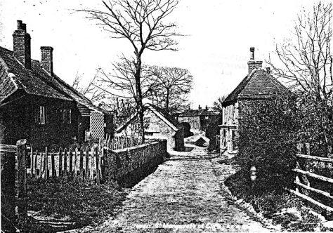 Chapel Lane towards Kingsdown Road. Undated