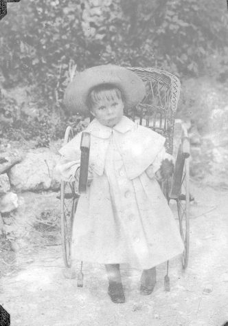 Young child in chair
