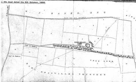 Deed showing map and location of East Valley Farm, 9 October 1880