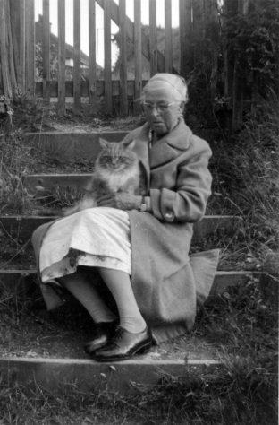 Annie Sharpe with her cat