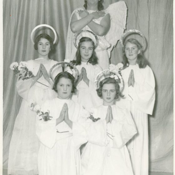 Cast of a WI Nativity Play. undated