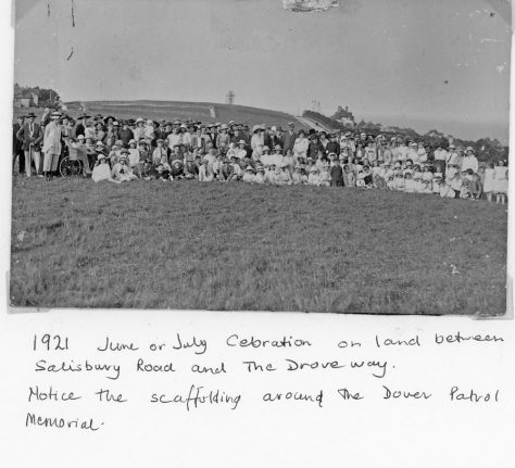 Village event on land between Salisbury Road and The Droveway. c1920
