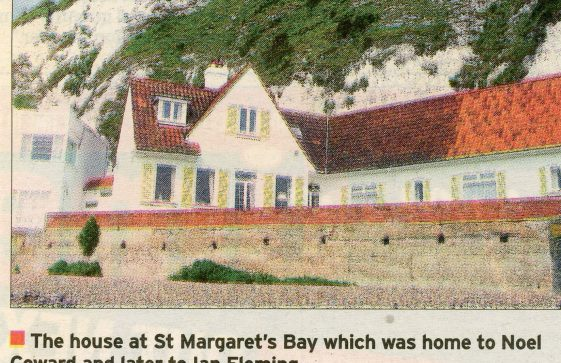 Noel Coward's house at east end of The Bay. Post WW II