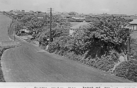 Along Station Road with Cliffe Place, Nelson Park in the distance.