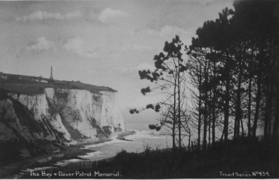 St Margaret's Bay from South Foreland. postmark 1929