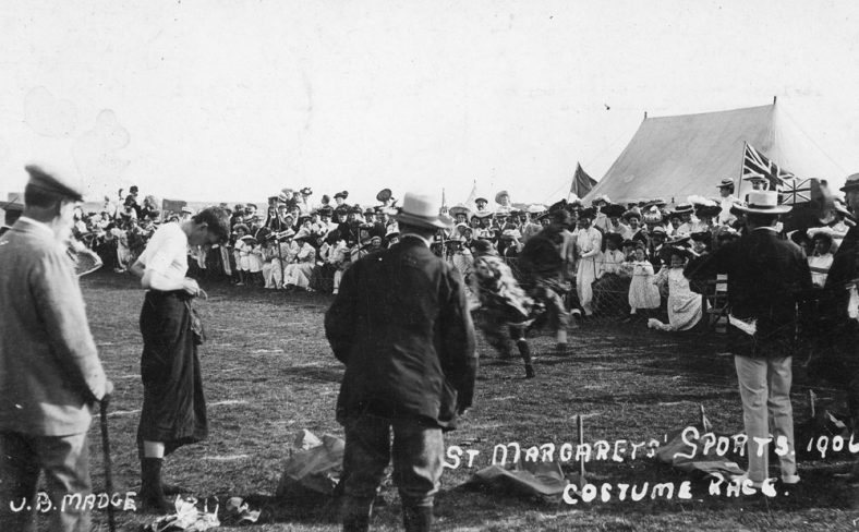 Costume Race at St Margaret's Sports Day. 1906