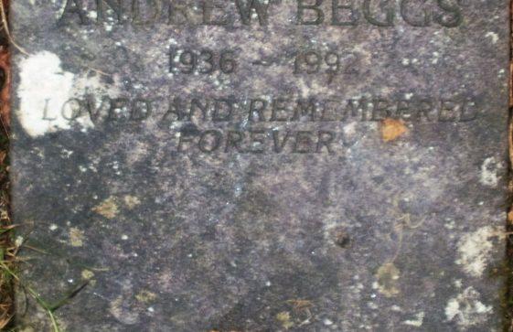 Gravestone of BEGGS Andrew 1992