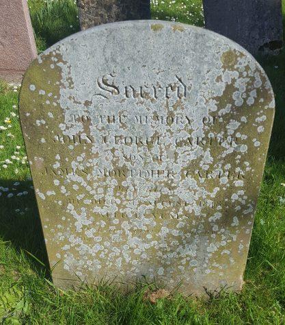 Gravestone of CARTER John George 1848