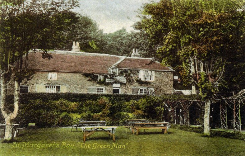 The Green Man St Margaret's Bay, from the garden. dated 15 May 1917