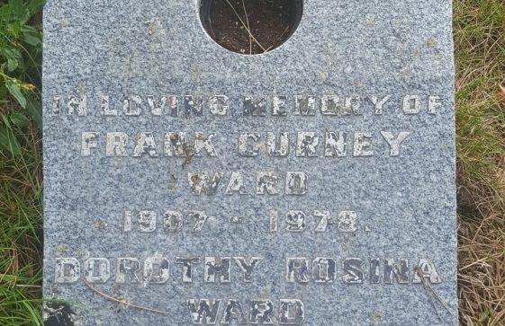 Gravestone of WARD Frank Gurney 1978; WARD Dorothy Rosina 1993