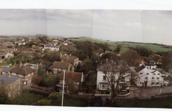 From St Margaret's church tower looking north. 11 March 1989