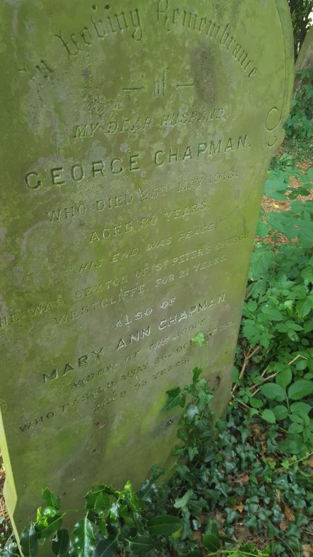 Gravestone of CHAPMAN Mary Ann 1931; CHAPMAN George 1913 | Dawn Sedgwick
