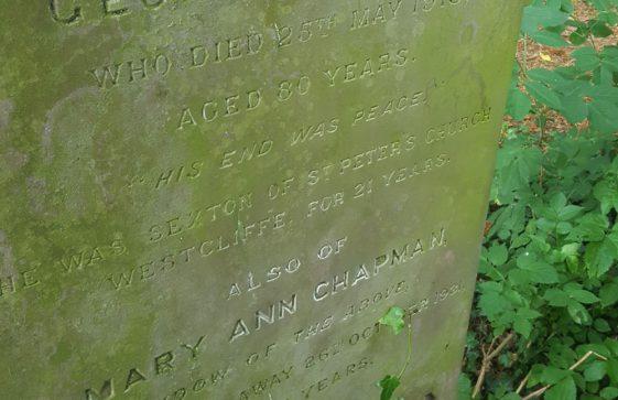 Gravestone of CHAPMAN Mary Ann 1931; CHAPMAN George 1913