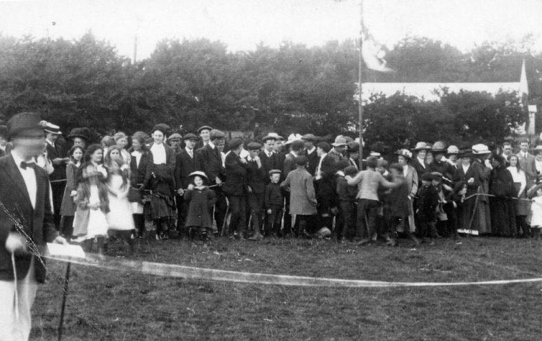 Spectators at St Margaret's Sports Day.  c1900