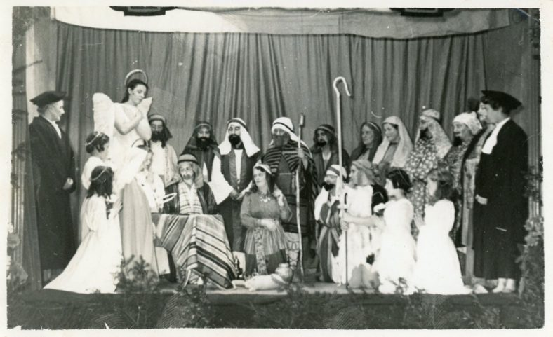 Cast of a WI Nativity Play