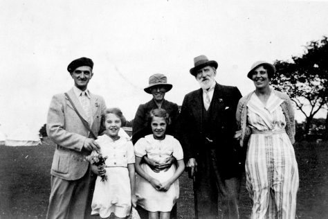 Annie Sharpe with members of the Hunt family at a Girl Guide camp