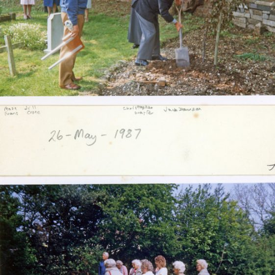 Dedication of the Memorial Garden to those from the village who died on the Herald of Free Enterprise disaster. 26th May 1987
