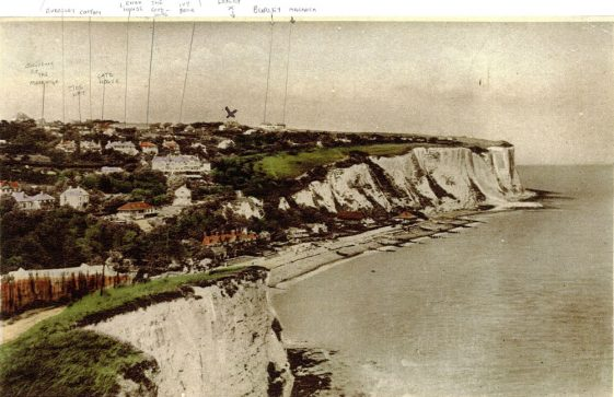 St Margaret's Bay from Ness Point. postmark 21 January 1936