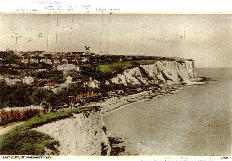 St Margaret's Bay from Ness Point. postmark 21 January 1936