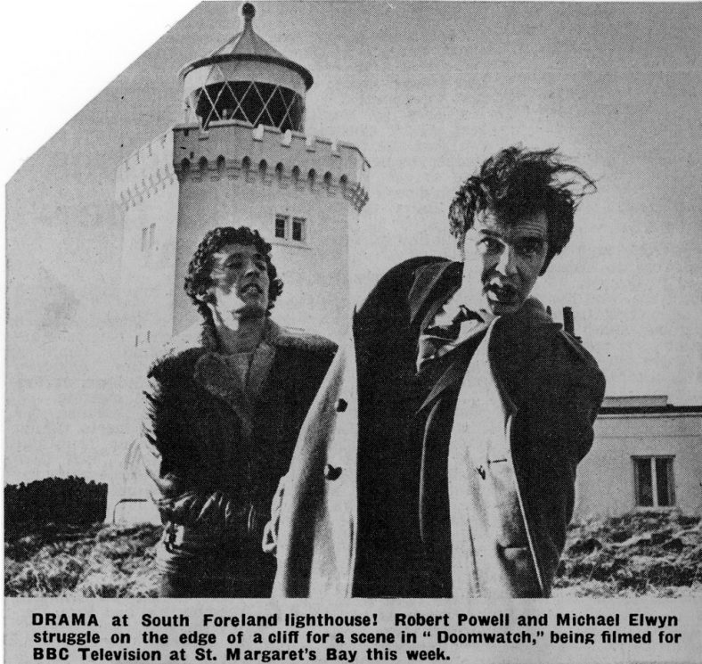 'Doomwatch' television programme filmed at the South Foreland Lighthouse. c.1970