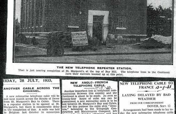 Telephone Repeater Station nearing completion, Bay Hill. 1933