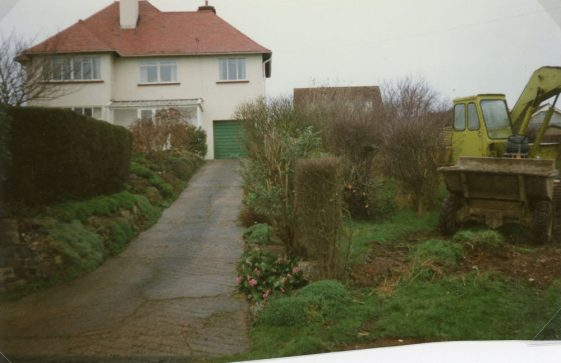 The Outlook and Midships, Salisbury Road, clearing the site between the houses. 1989