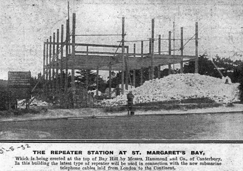 Construction of the Repeater Station at Bay Hill. 5 August 1932