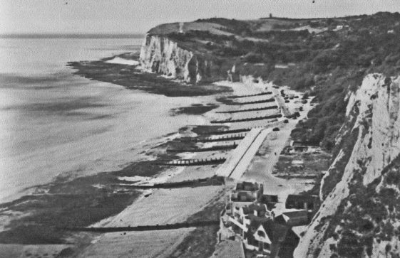 The Bay, South Foreland Valley and Lighthouse from The Leas. 8 January 1937
