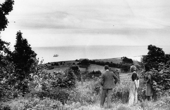 Mitchell family look across the Channel in wartime. 1942