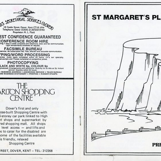 Programme for the pantomime 'Mother Goose' produced by St Margaret's Players 1988