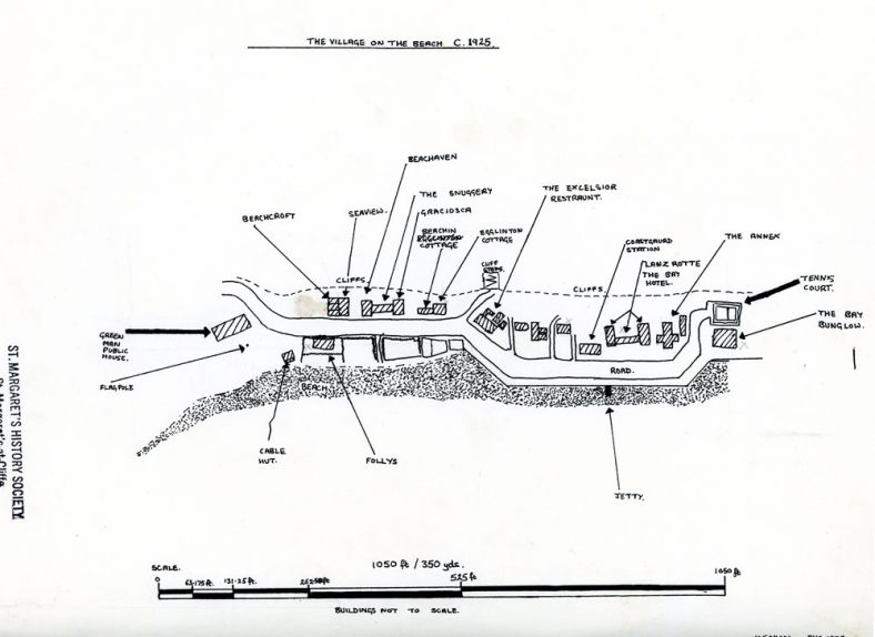 Sketch map of the Village on the Beach. c1925 | Nicol, K.E