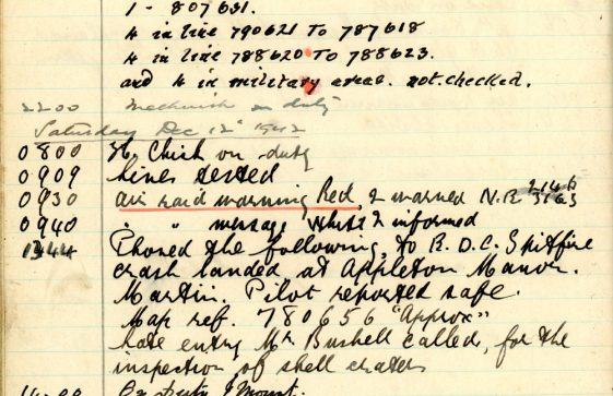 St Margaret's ARP (Air Raid Precautions) Log. Volume 6. 17 July 1942 - 16 February 1943. Pages 105-114