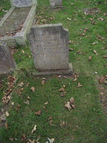 Gravestone of COE Ellen Kate 1964; COE Louisa Clarke 1948