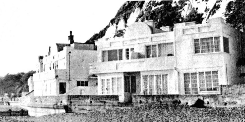 Houses at East Cliff end of St Margaret's Bay. Undated