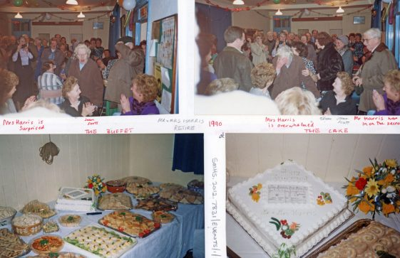 Retirement party given by St Margaret's village for Mr & Mrs Harris in 1990