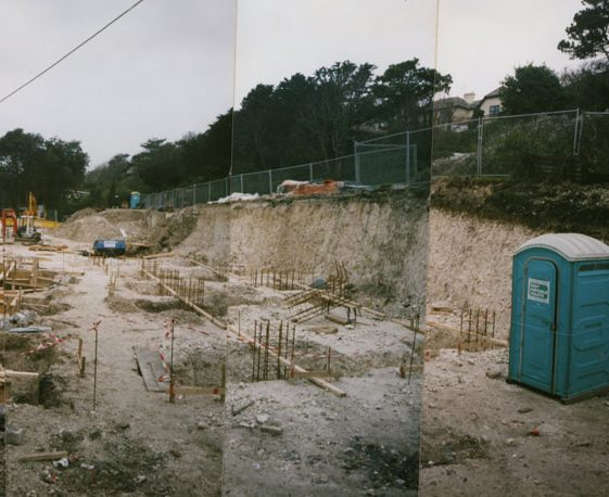 The Granville Flats, Hotel Road:  Work begins. 1997/8