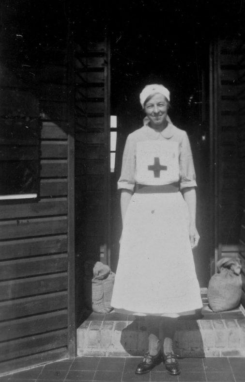 Annie Sharpe in Red Cross uniform