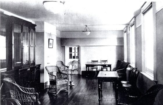 Portal House sitting room/recreation room and dining room c.1920