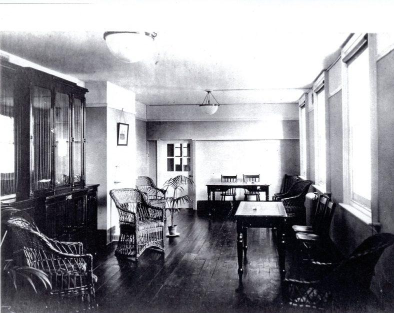 Portal House Recreation Room; Dining room. c1920