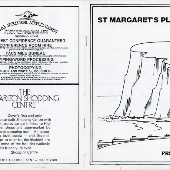 Programme for St Margaret's Player's pantomime 'The Grand Old Duke of York'. unknown date