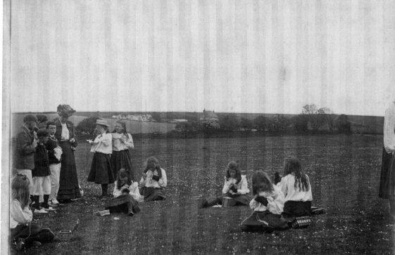 Penlee School, The Droveway, Sewing Class.  1906